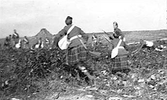 72nd Regiment, Seaforth Highlanders of Canada on maneuvers on the Plains of Abraham, 1912
